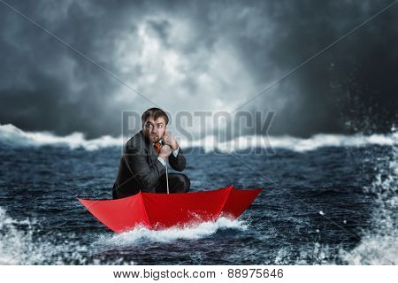 Businessman in crisis