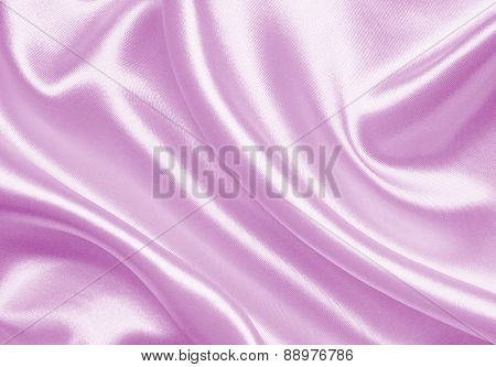 Smooth Elegant Pink Silk Or Satin As Wedding Background