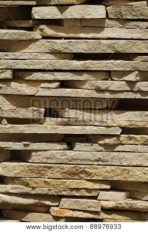 Tiles From Sandstone Close Up. Vertical