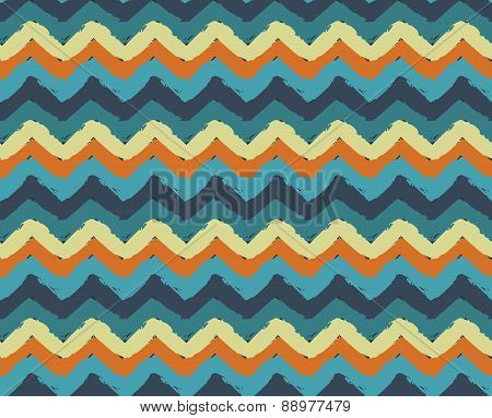 Sea Beach Painted Zigzag Pattern