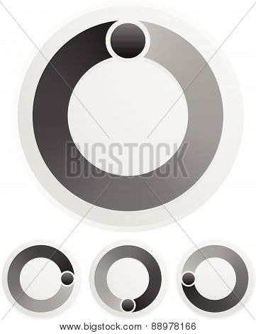 Black And White Preolader, Buffer Shape, Symbol