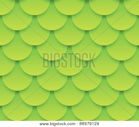 Overlapping Circle Shapes Repeating Pattern. Vector Graphics.