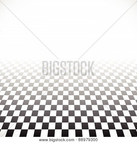 3D Fading Checkered Plane With Perspective. Fade Effect With Opacity Mask, Can Be Put On Any Backgro