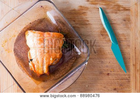 Fresh Oven-baked Salmon Fresh From The Oven