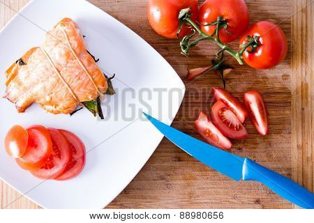 Delicious Freshly Roasted Fresh Salmon Fillet