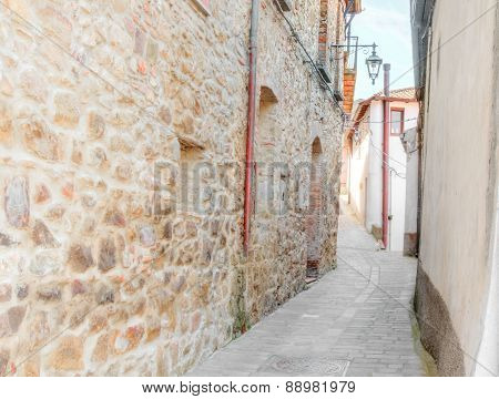 Old Street In The Stones Near Matera In Italy Unesco European Capital Of Culture 2019