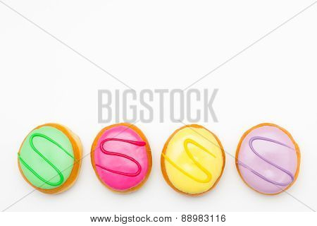 background colorful donut variation