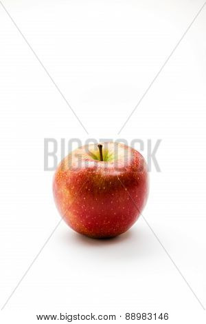 organic apple against white