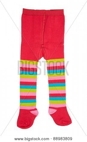 Infant Tights Kids Wool Clothing isolated on white background.