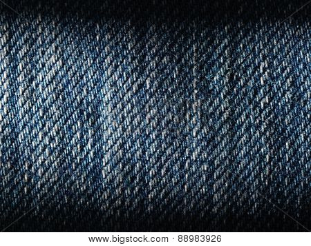 Texture of blue jeans background.Close up