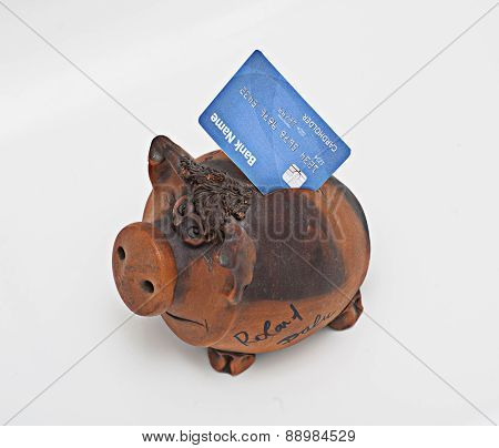Piggy Bank With Bank Card