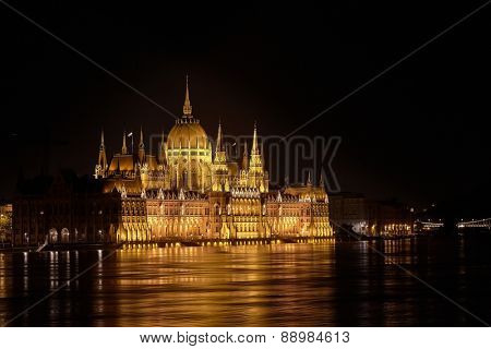 The parliament building Budapest, Hungary