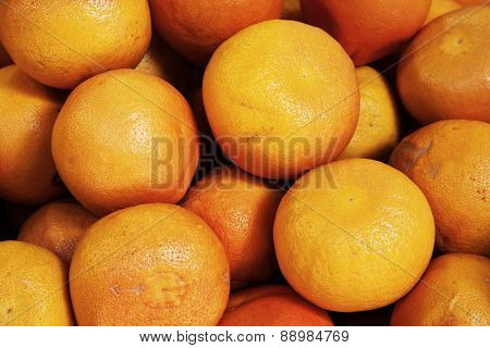 Organic Grapefruits At Market Stall