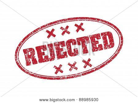 Rejected - oval rubber stamp. Vector illustration for your design.