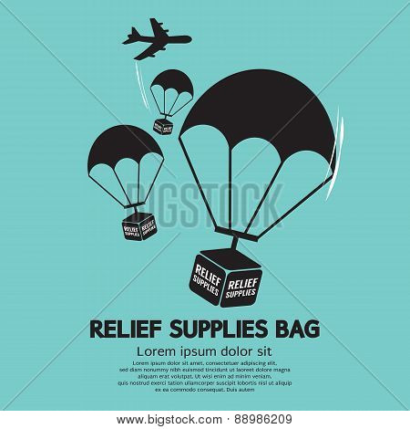 Relief Supplies Bag With Parachutes.