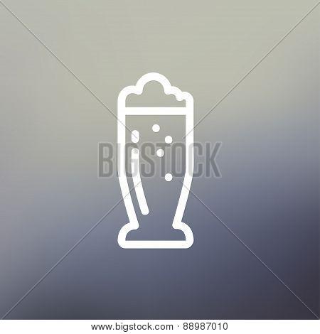 Mug of beer thin line icon