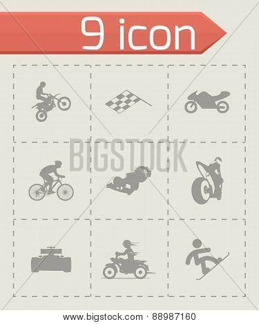 Vector racing icons set