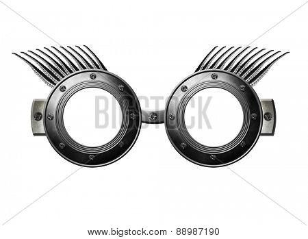 Fantasy silver glasses
