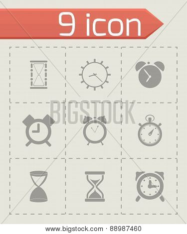 Vector time icons set