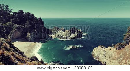 Seascape of Julia Pfeiffer Burns State Park in Big Sur