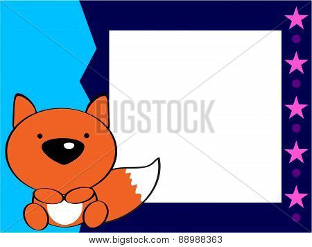 cute baby fox picture frame
