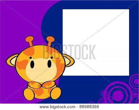 cute baby giraffe picture frame