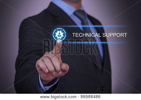 Businessman Gear Technical Support