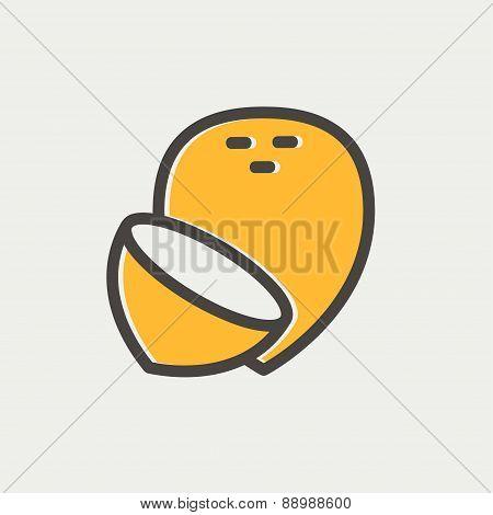 Coconut thin line icon