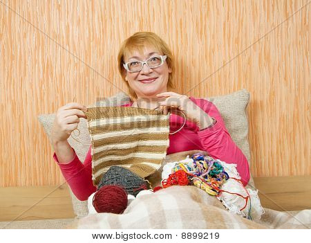 Knitting Senior Woman