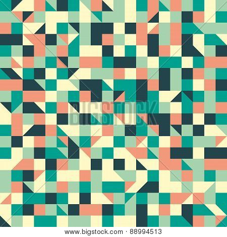 Vintage seamless pattern with squares and triangles.