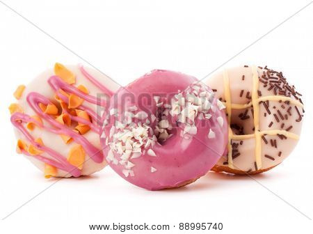 doughnut or donut isolated on white background cutout