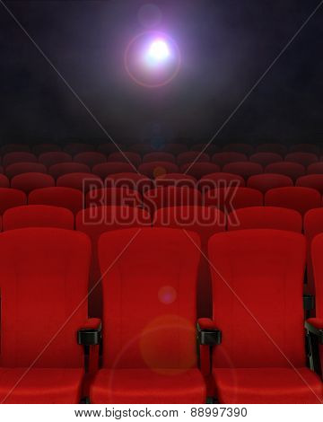 Cinema Seats With Projector Lights