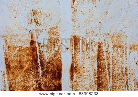 Light Rusted On The Gray Wall . Background And Texture For Your Design.
