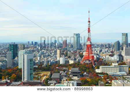 Tokyo city in Japan