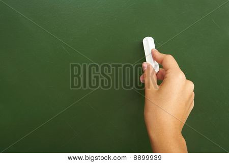 Writing On Chalkboard