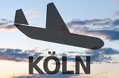 image of koln  - Airplane icon  - JPG