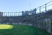 stock photo of derelict  - Plaza de toros Real de San Carlos in Colonia del Sacramento Uruguay - JPG