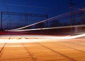 foto of high-speed train  - Train movement during high - JPG