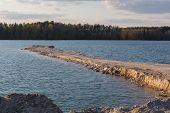 image of bavaria  - the lake Klausensee next to Schwandorf in Bavaria in spring - JPG