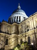 picture of london night  - St Paul - JPG