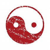 picture of taoism  - Red grunge Taoism logo on a white background - JPG