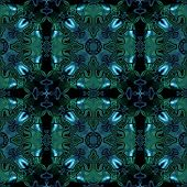 picture of celtic  - Abstract seamless blue green metallic viking or celtic like pattern - JPG