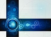 stock photo of color wheel  - Abstract future digital science technology concept - JPG