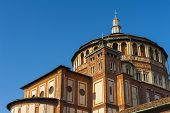 picture of leonardo da vinci  - Beautiful church Santa Maria delle Grazie is the place where can be found famous fresco of Leonardo da Vinci  - JPG