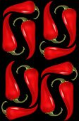image of chillies  - Seamless pattern with red hat chilli pepers - JPG