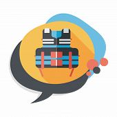 picture of vest  - Life Vest Flat Icon With Long Shadow - JPG