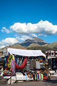 stock photo of indian currency  - Famous Indian market in Otavalo Imbabura Ecuador South America - JPG