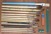 picture of pencil eraser  - Paint brushes - JPG