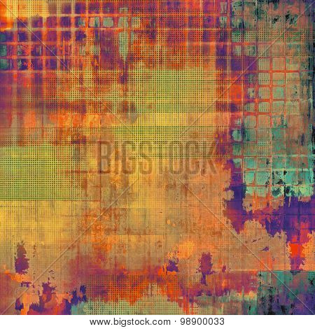 Grunge old texture as abstract background. With different color patterns: yellow (beige); red (orange); green; blue; purple (violet)