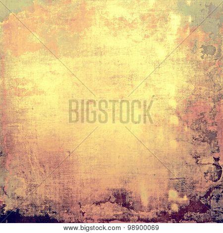 Grunge old texture as abstract background. With different color patterns: yellow (beige); brown; green; purple (violet)